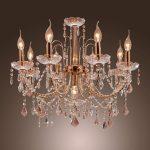 Elegant cahndelier with crystals