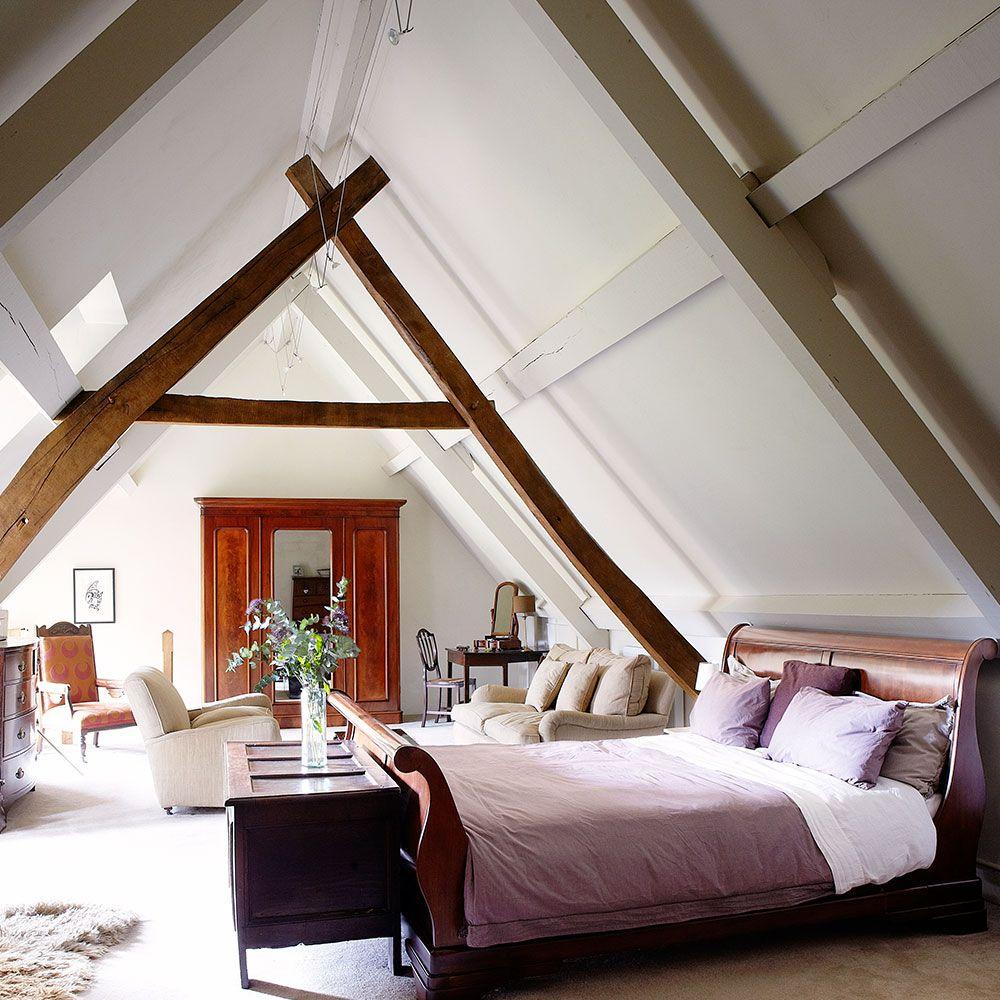 Extra large attic bed design ideas