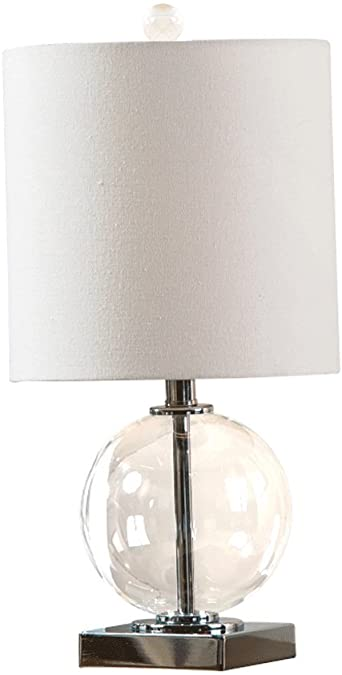 Glass bedside lamps
