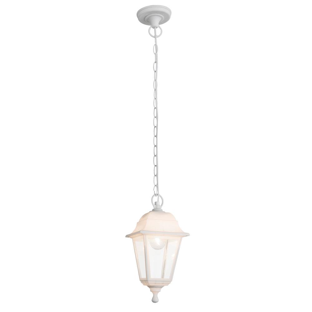 Glass ceiling lamp illuminates the outside