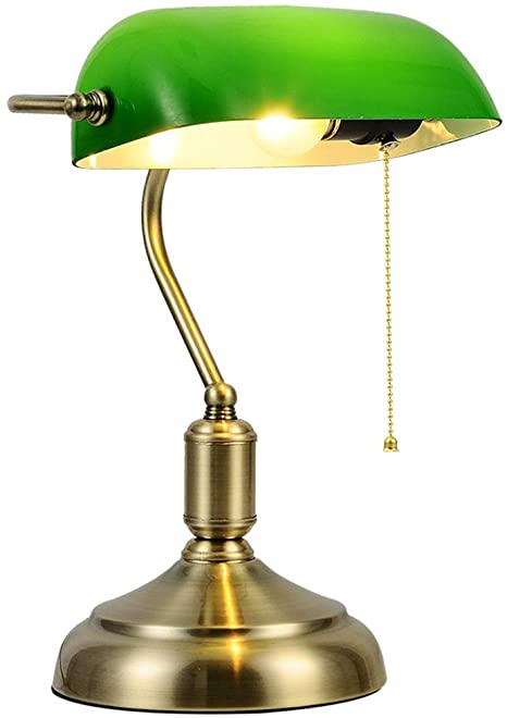 Green lampshades for table lamps
