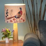 Handmade lampshade: a lampshade made with bare hands
