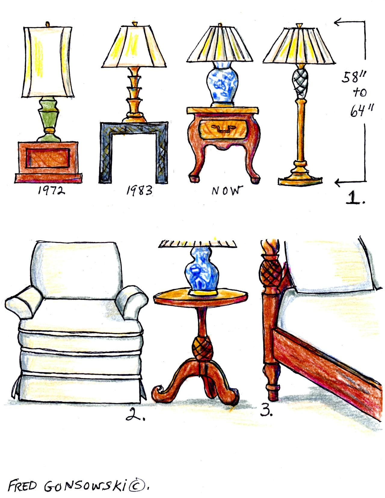 Height for your floor lamps