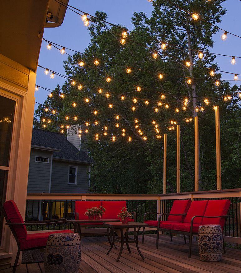 How to hang patio lighting