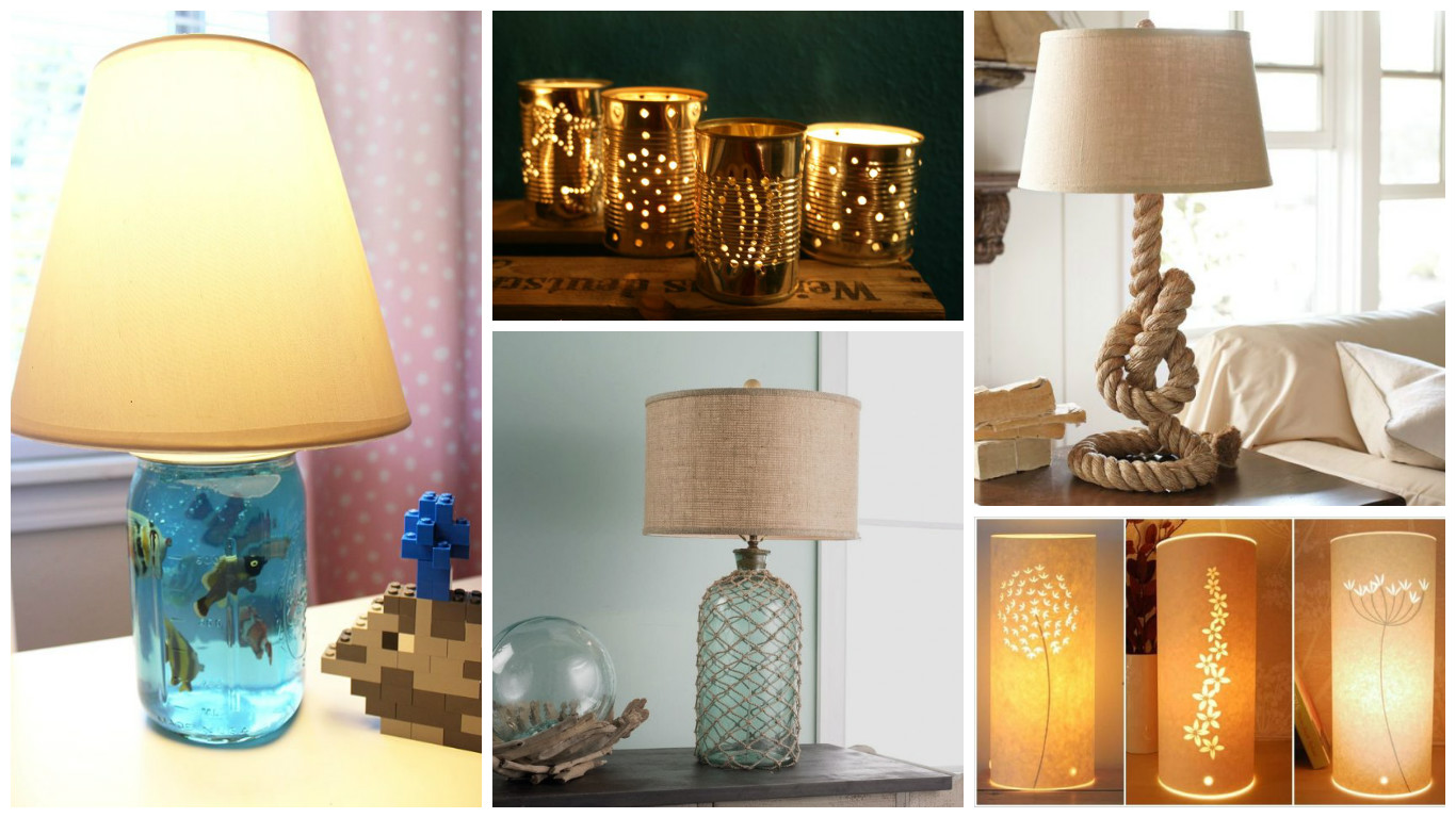 How to make your own funky bedside lamps