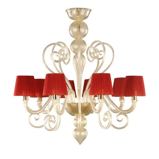 inspired red chandelier