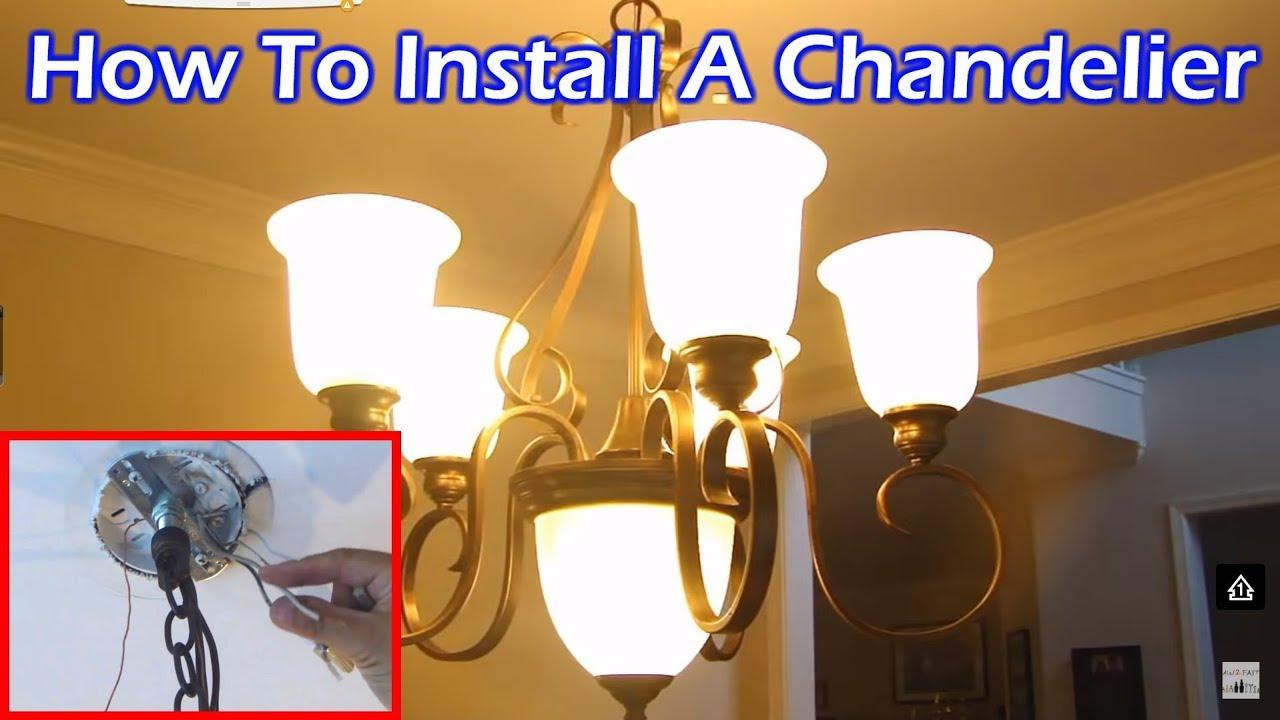 Installing 6 chandeliers