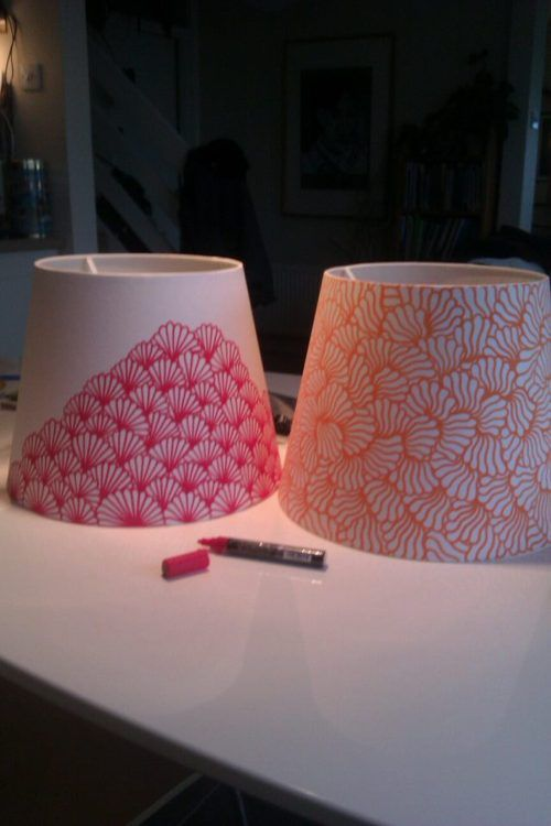 Lampshade design: beautify a lampshade