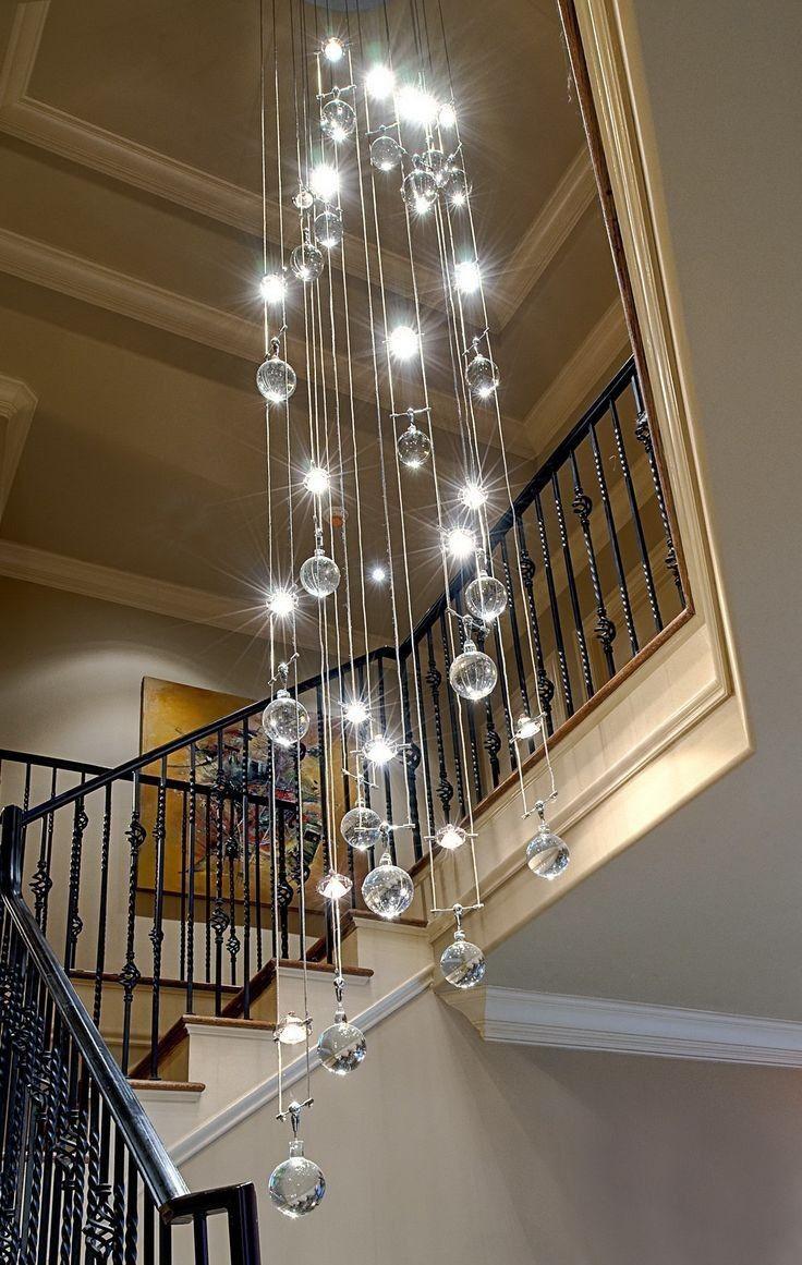 Large chandelier lighting for foyer