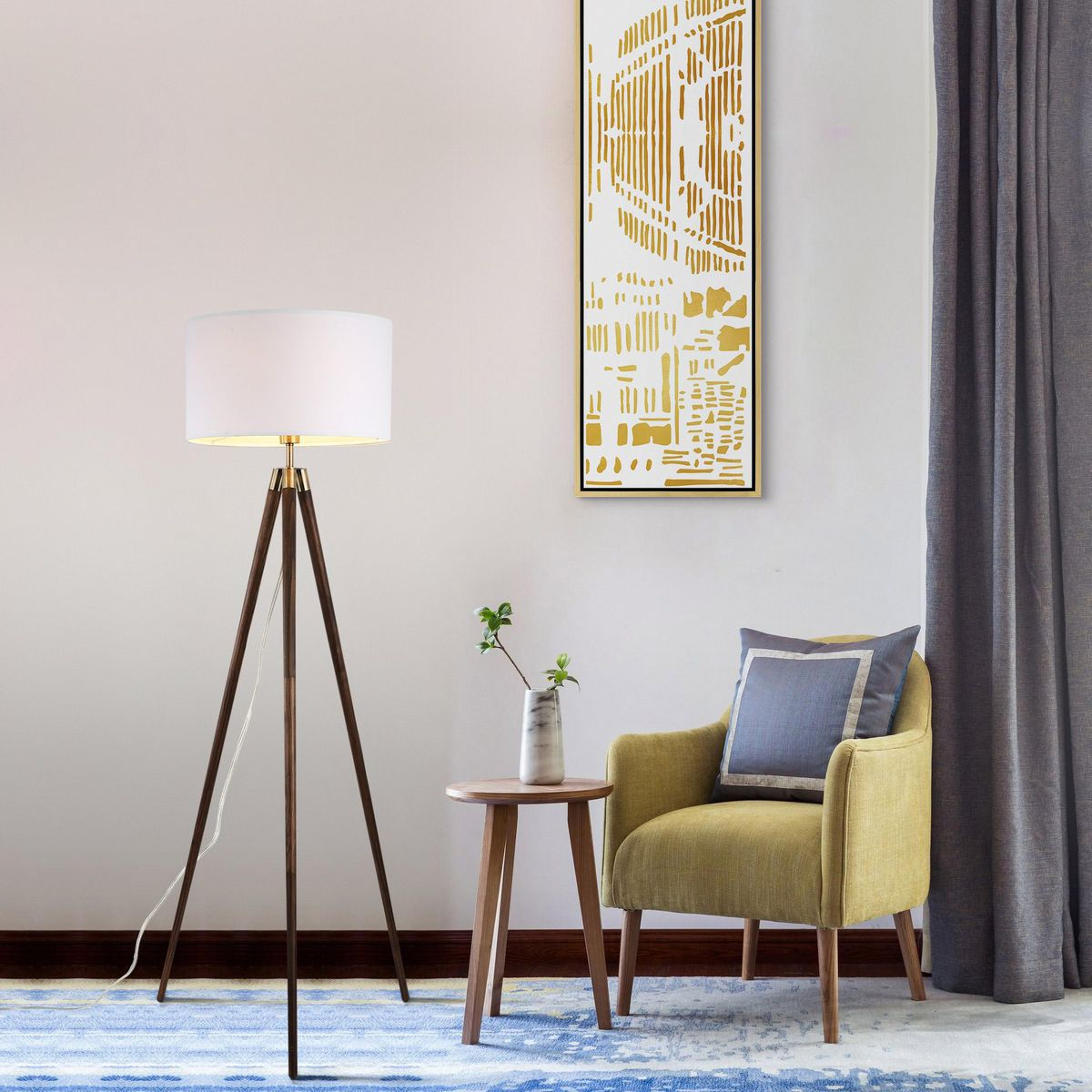 Light up your entertainment spaces with glass floor lamps