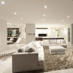Living room with spotlights