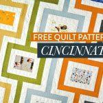 Mid-century modern quilt pattern design