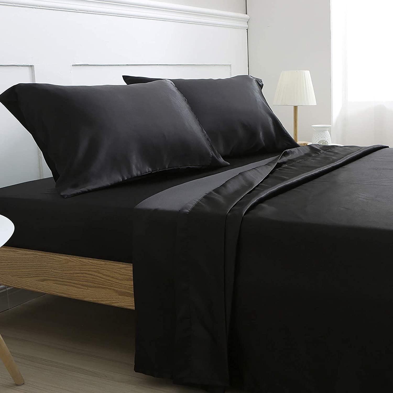 modern stunning satin sheets queen deep pocket