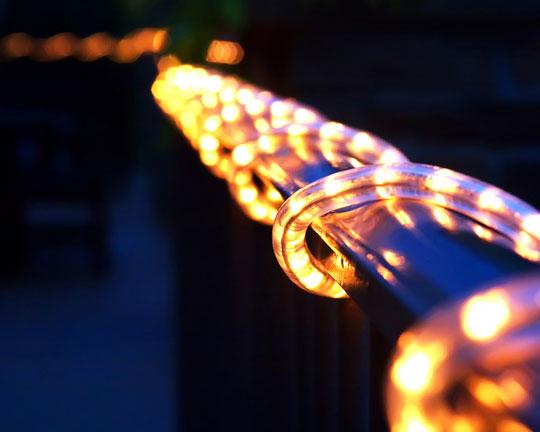 Outside rope lighting