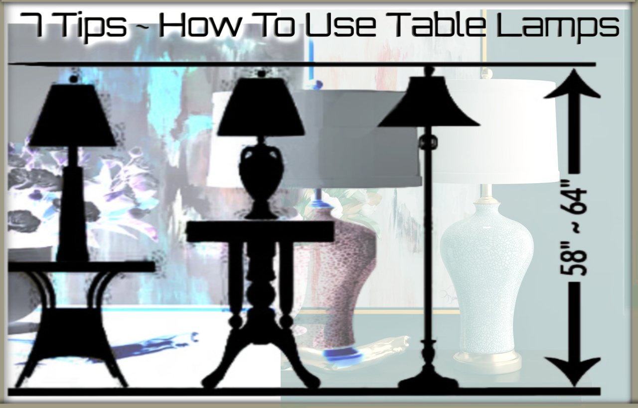 Proper use of large table lamps
