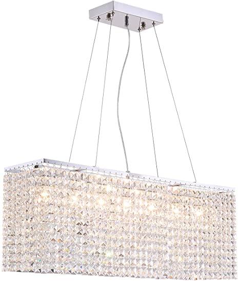 Rectangular hanging chandelier