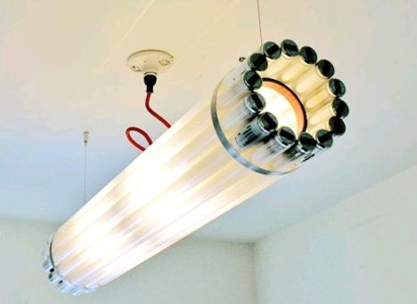 Recyclable fluorescent luminaires