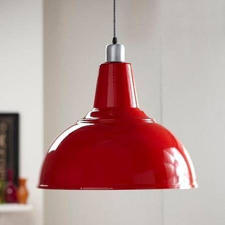 Red lighting fixtures home