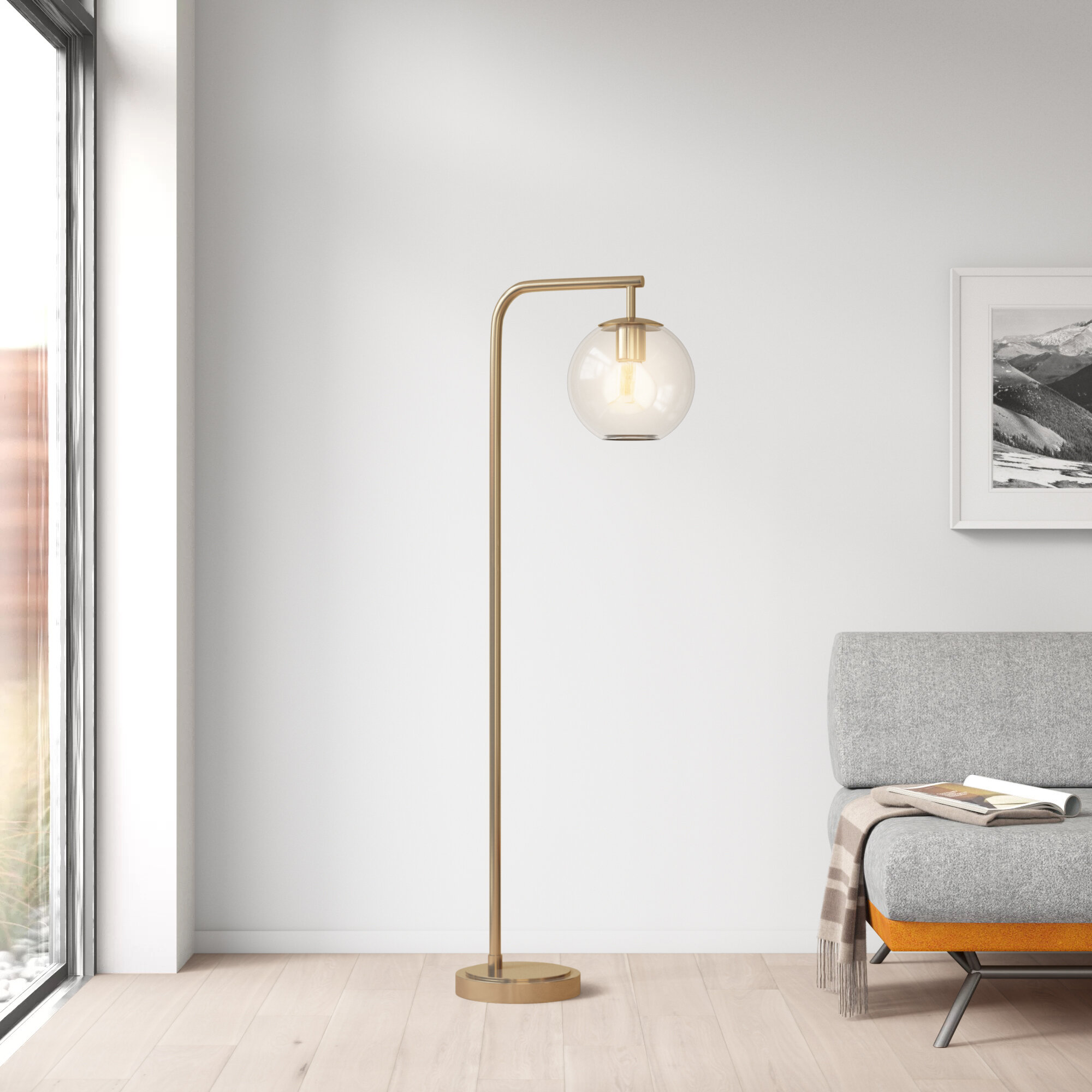 Safe and newly designed modern arch floor lamp