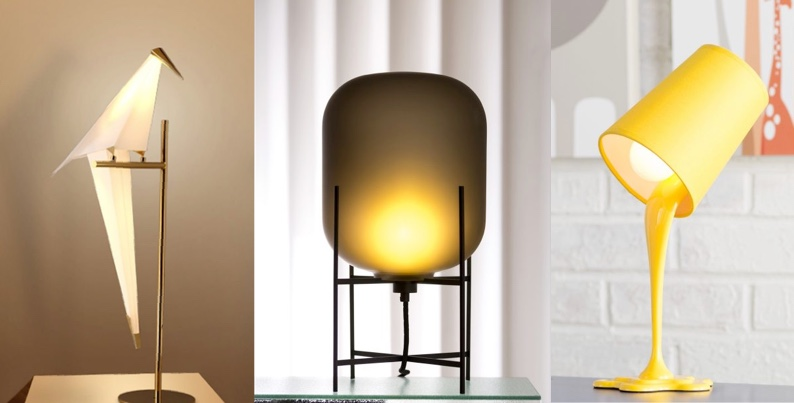 Side table lamp for night lighting
