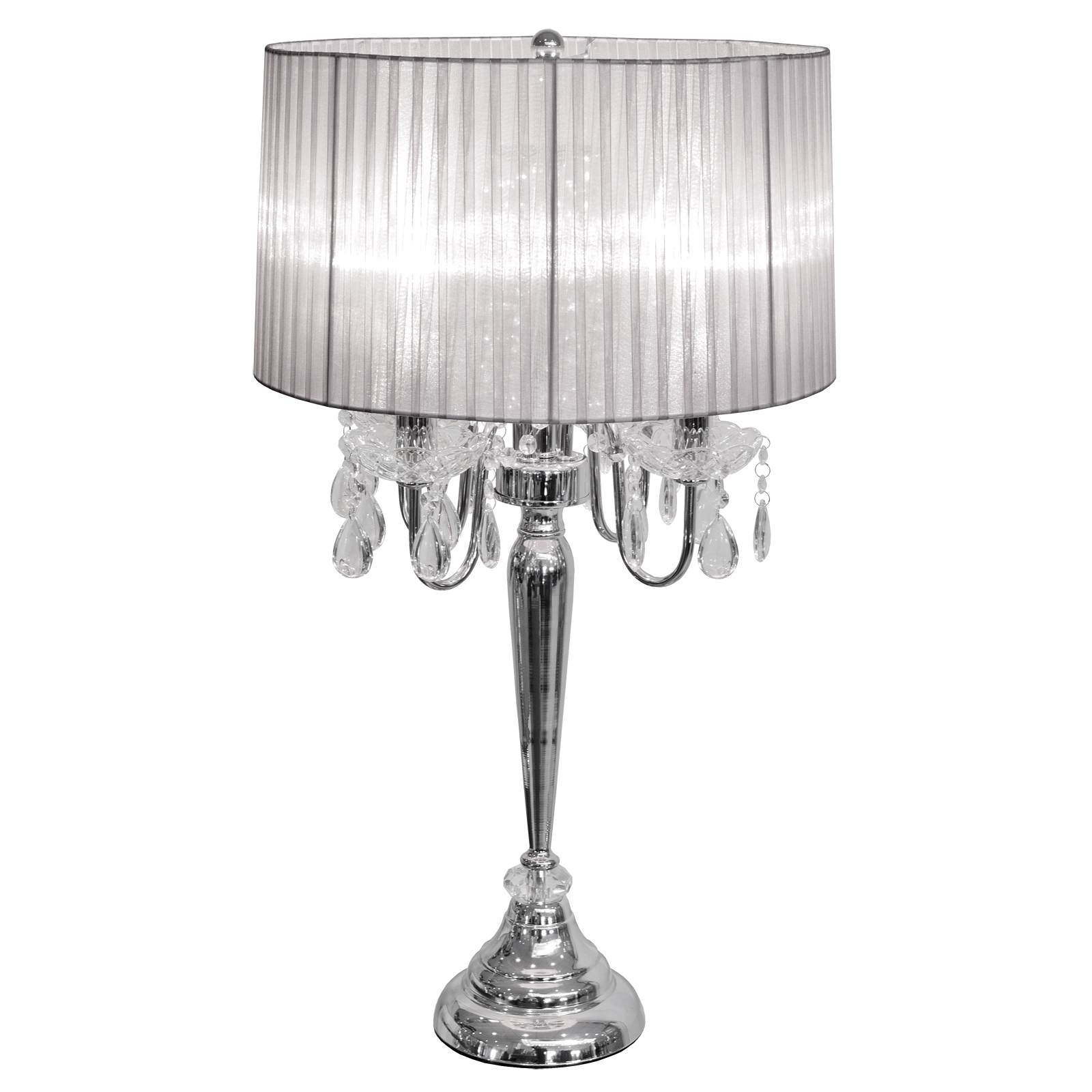 Silver shades for table lamps
