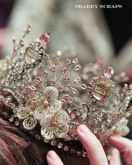 Stunning glass crowns