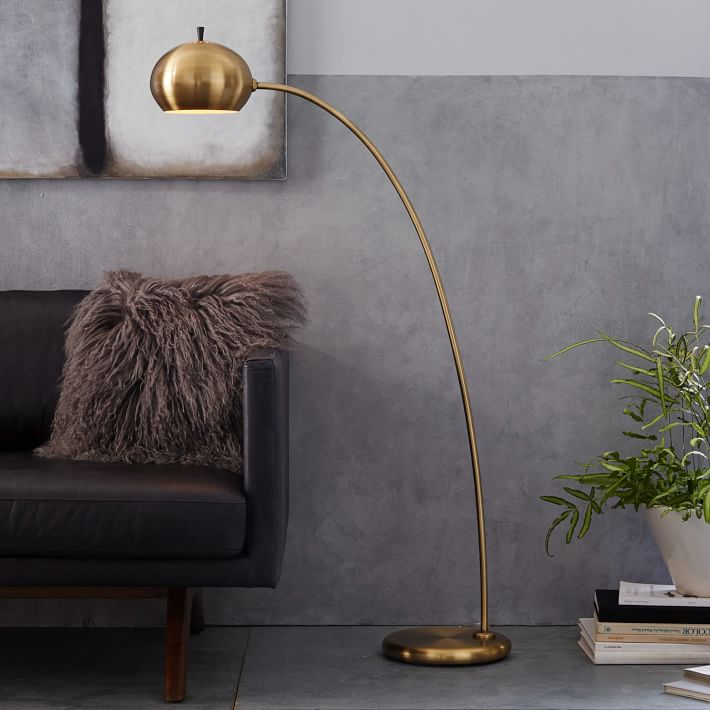 Styling tips for brass arch floor lamp