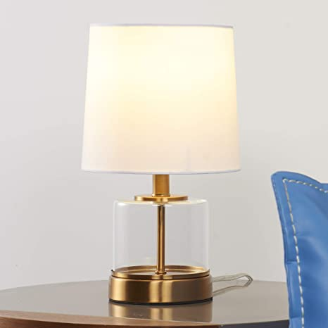 suitable small glass table lamp for home