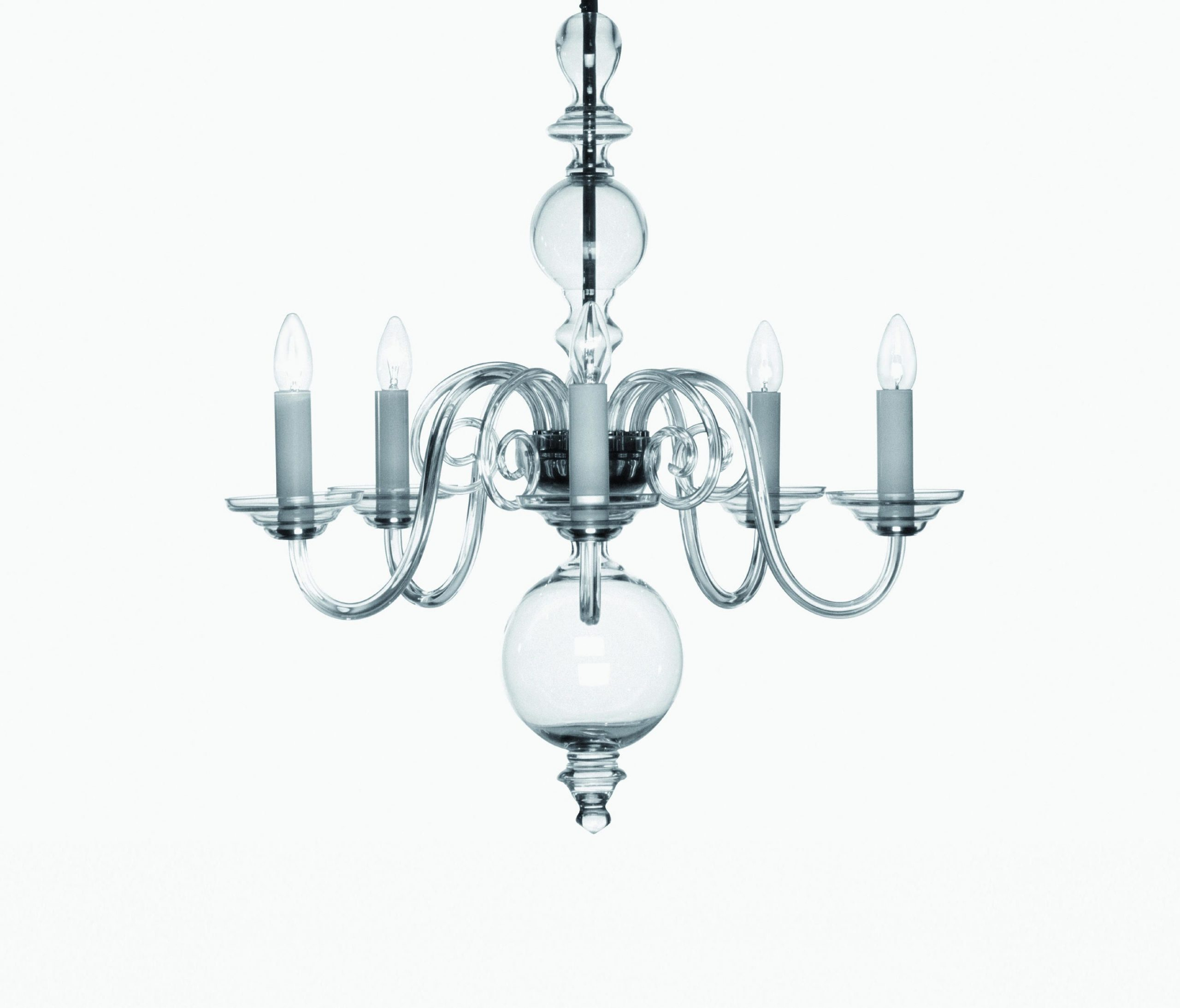 Traditional chandelier glass