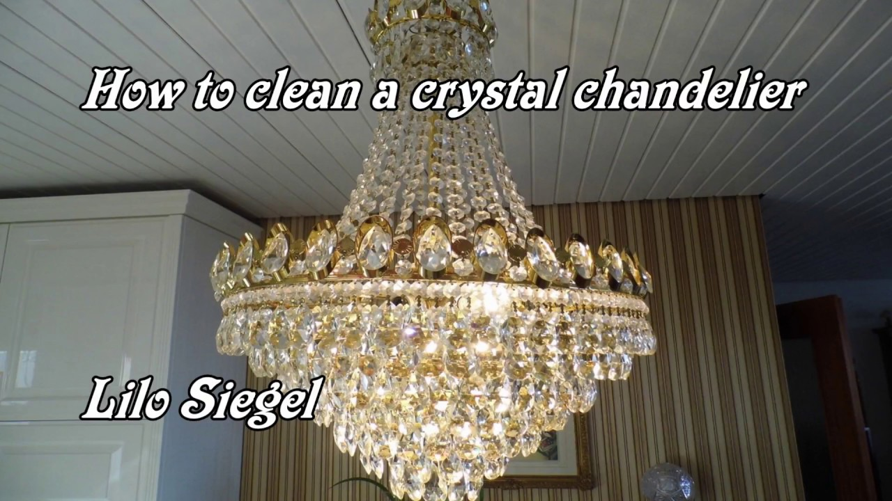 Use crystals for chandeliers