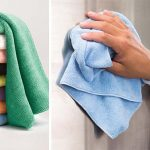 Using microfiber towels
