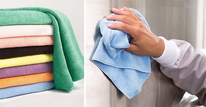 Using microfiber towels