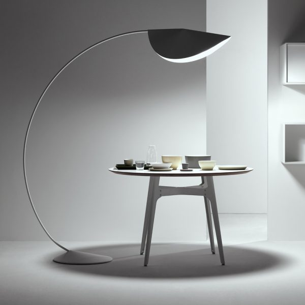 What are some exciting overhanging floor lamp designs?