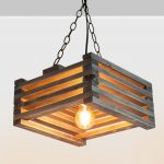 Wooden lamps decor