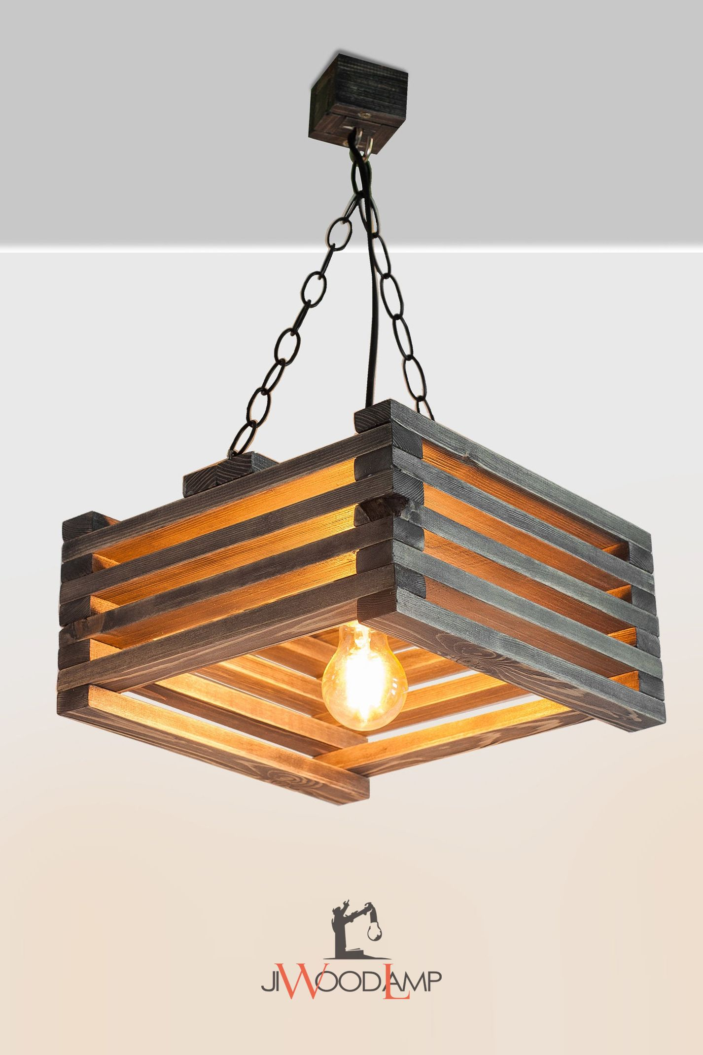 Wooden lamps decor